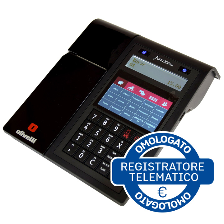REGISTRATORE DI CASSA A TASTIERA E TOUCH FORM 200 PLUS RT